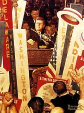 Pintura Retrato Presidente John Kennedy Jfk multitud Usa impresión arte cartel lv2797