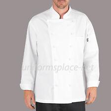Dickies Chef Coat Mens Lorenzo Executive Chef Coat DC101 Black or White
