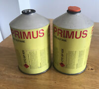 VINTAGE 70s PRIMUS 2202 CANNISTER CAMPING OLD ADVERTISING COLLECTABLES X2