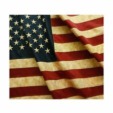 Vintage Style Tea Stained American Us Flag 3x5 Foot Nylon Embroidere Amazing