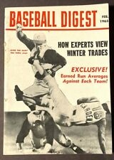 VINTAGE BASEBALL DIGEST OVER THE HUMP FEBRUARY 1965 VOL 24 NO 1