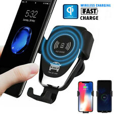 10W Wireless Car Air Vent Mount Qi Wireless Cell Phone Fast Charger Holder Stand