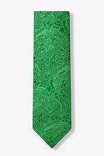Men's Microfiber Green Computer Science Circuit Board Geek Necktie Tie