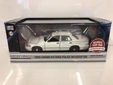 Ford Crown Victoria Interceptor Plain White Police Car Greenlight 86095