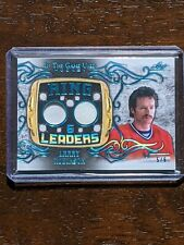 2020-21 leaf in the game used hockey Larry Robinson Ring Leaders SP#5/6
