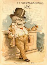 L'avocat, Classic ANTIKAMNIA CALENDRIER, 1899-1900, vintage Anatomy Poster