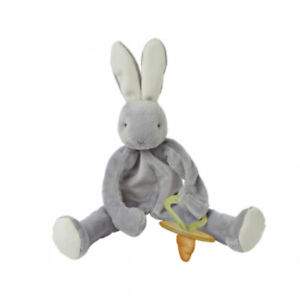 Bunnies by the Bay Silly Buddy Grey Bunny Soft Toy Comforter - FREE DELIVERY