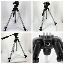 3001 Bogen Manfrotto Tripod With #3130 Head Made In ITALY missing a screw-onknob