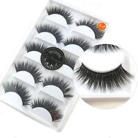 5 Pairs Luxurious 3D False Eyelashes Makeup Cross Natural Long Eye Lashes