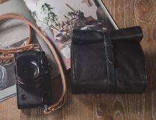 Handmade Black Italy Goatskin Case Bag for Leica Q M240P M240 Olympus OMD Camera