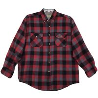 Northwest Blue Vintage Acrylic Shirt Mens M Red Black Long Sleeve Button Front
