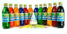 4 x1 Litre Snow Cone Syrup-Pick & Mix-Slush Puppy Style FREE Cones & Strawspoons