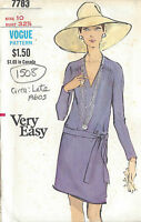 1960s Vintage VOGUE Sewing Pattern DRESS B32 1/2 (1508)