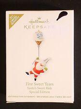 Hallmark Five Sweet Years Santa's Sweet Ride Keepsake Ornament © 2011 Special Ed