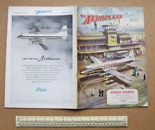 "1953 ""The Aeroplane""  Aviation Tech Magazine Vickers Viscount Cover Art"