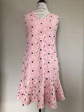 Ann Taylor Begonia lace dress Pink/Black, size 6