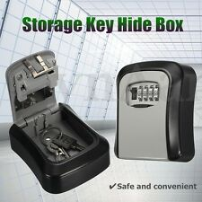 Safe Security Outdoor Storage Key Hide Box Wall Mounted Combination Lock Lockout