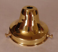 """NEW 3 1/4"""" Fitter Polished & Lacq.  Brass Fixture Lamp Shade Holder Bell #SHH62"""