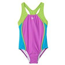 NWT Girls 12 SPEEDO One Piece Purple Swimsuit
