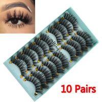 DINGSEN 10 Pairs 3D False Eyelashes Wispy Fluffy Natural Long Lashes Handmade---