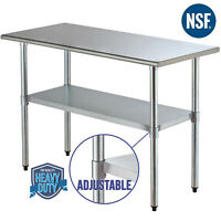 "Commercial 24""x48"" Stainless Steel Prep & Work Table Food Kitchen Restaurant"