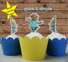 Bananas in Pyjamas EDIBLE wafer cupcake cake toppers STAND UP