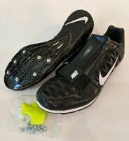 NEW Nike Zoom Long Jump 4 Track Spikes Black White 415339-017 Mens