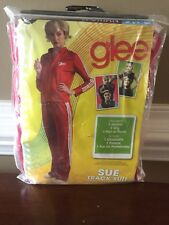 New GLEE Coach Sue Costume Red Track Suit Size Small 4-6