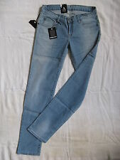 Dr Denim Femmes Blue Jeans Stretch Tube w26/l34 X-Low Waist Slim Fit Tube Leg