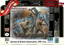 Master Box 35116 WWI German & British Hand-to-Hand Trench Set, plastic kit 1/35