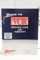 Zenith S VHS VCR VRD700HF Operating Guide Instruction Manual