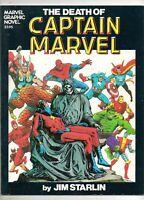 Marvel Graphic Novel #1 DEATH of CAPTAIN MARVEL! THANOS & DEATH APP 2ND PRINT VF