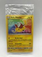Ashs Pikachu SM 108 - SM Black Star Promo Sealed OVP Pokemon Karte Deutsch Mint