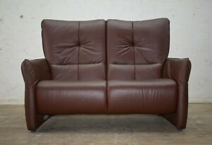 """2017 HIMOLLA CUMULY """"BRENT"""" LEATHER 2 SEATER FIXED BACK SOFA - IMMACULATE"""