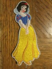 """Snow White Patch Embroidered Iron / Sew on 4.75"""" x 2.25"""""""