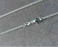 GENUINE 925 SOLID SILVER CURB CHAIN NECKLACE LOBSTER CLASP ALL INCH 18000 SOLD