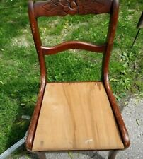 ANTIQUE TELL CITY DUNCAN PHYFE ROSEBACK MAHOGANY DINING SIDE CHAIR NO CUSHION