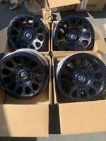 17x8.5  +7mm  Fuel Vector  5x150  Matte Black Wheels Rims (Used Set)
