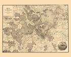 1893 Map of Lake Minnetonka Minnesota