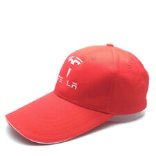 Red Hat Cap Cotton Baseball Cap Universal for Men Women Tesla Car Accessories