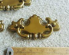 4 Vintage Drawer Bail Pulls Shiny Brass Color 3