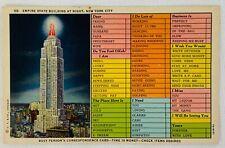 Vintage Unused Postcard - Empire State Building, New York City
