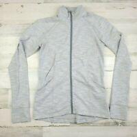 Lululemon Women Full Zip Gray Jacket Long Sleeve