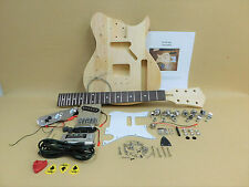 Ei38 Complete NO-SOLDER DIY Kit-TE Short Scale 3/4 Size Electric Guitar + Tuner