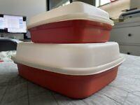 Tupperware 1294 1518 Season N Serve Large Paprika Meat Marinade Container Lid