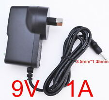AC 100-240V Converter Adapter DC 9V 1A 9W Power Supply 1000mA 3.5mm x 1.35mm
