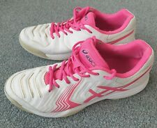 Asics Gel Game 6 Womens Tennis Shoes Size 8 UK All Court white pink