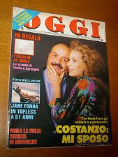 OGGI=1989/21=MAURIZIO COSTANZO=JANE FONDA TOPLESS=SAN GENNARO=LILIANO FRATTINI=