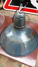 Lampe Industrielle Gamelle Suspension Métal Tôle émaillée 1950 Atelier Usine