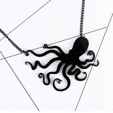Unique Jellyfish Octopus Sweater Necklace Pendant Chain Punk Style Women Jewelry